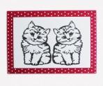Scherenschnitt Postkarte, Zwei Kätzchen