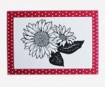 Scherenschnitt Postkarte,  Sonnenblumen