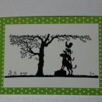 Scherenschnitt Postkarte, Bremer Stadtmusikanten