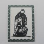 Scherenschnitt Postkarte Heilige Familie