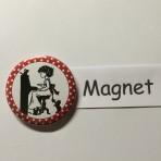 """Magnet """"Klaviermädchen"""" geeignet für Magnetwand, hält 450 Gramm!"""