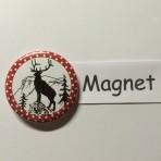 """Magnet """"Hirsch und Niederbauen"""" geeignet für Magnetwand, hält 450 Gramm!"""