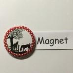 """Magnet """"2 Rössli"""" geeignet für Magnetwand, hält 450 Gramm!"""