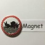 """Magnet """"2 Kaninchen"""" geeignet für Magnetwand, hält 450 Gramm!"""